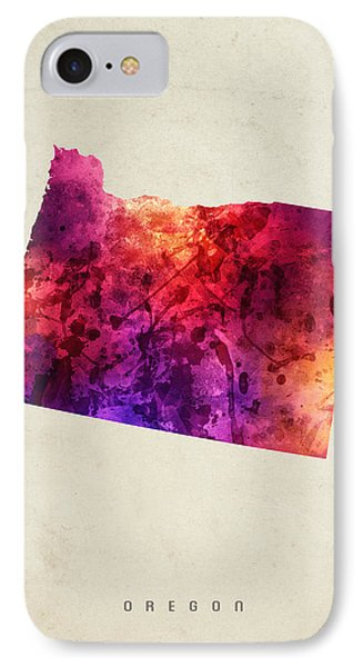 Oregon State Map 05 IPhone 7 Case by Aged Pixel