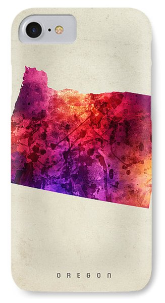 Oregon State Map 05 IPhone Case by Aged Pixel