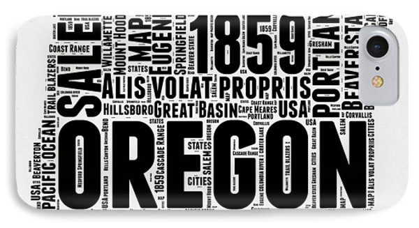 Oregon Word Cloud 1 IPhone Case