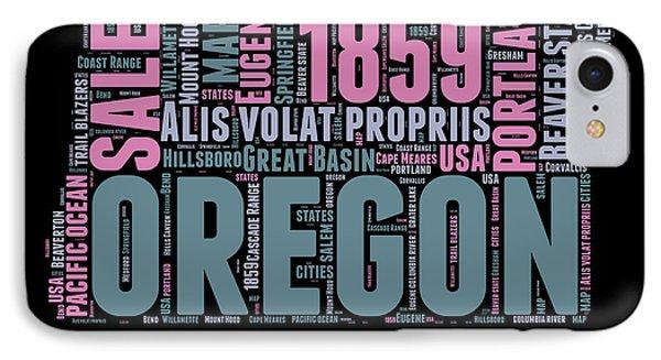 Oregon Word Cloud 2 IPhone Case