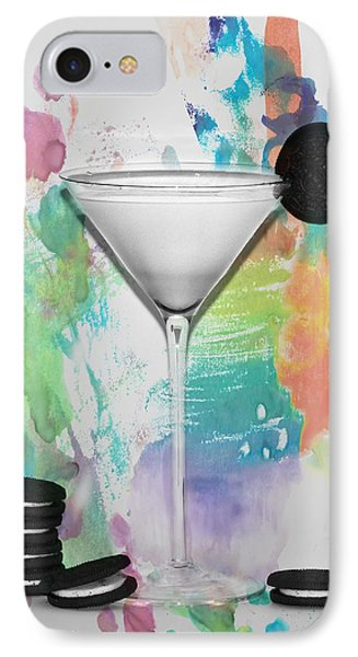 Oreo Happy Hour Watercolor Bg IPhone Case by Bill Cannon