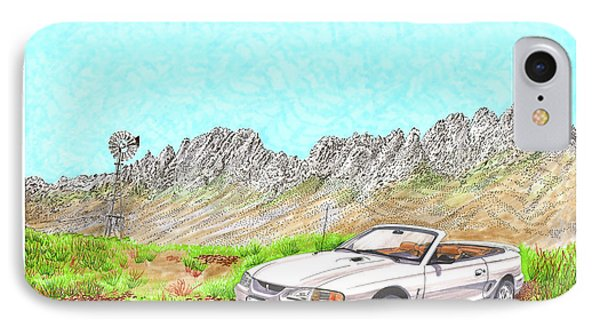 Organ Mountain Mustang IPhone Case by Jack Pumphrey