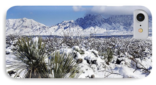 IPhone Case featuring the photograph Winter's Blanket Organ Mountains by Kurt Van Wagner
