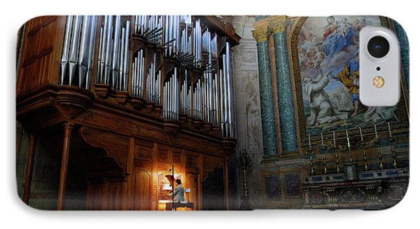Organ Player In Saint Mary Of The Angels Basilica Rome IPhone Case