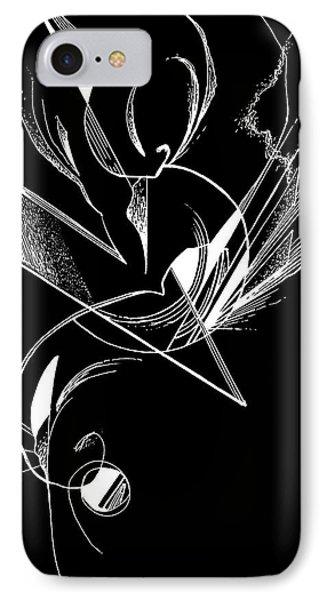 Organic Lines #10 Invert IPhone Case
