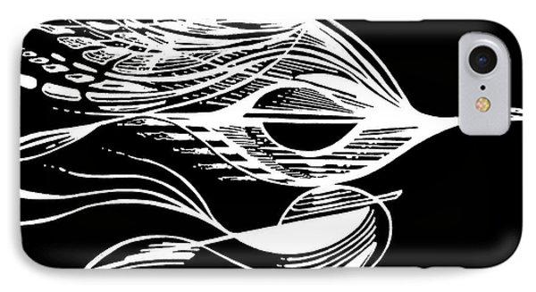 Organic Lines #20 Invert IPhone Case