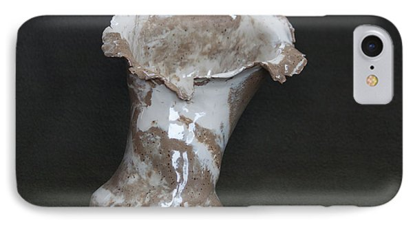 Organic Marbled Clay Ceramic Vase IPhone Case by Suzanne Gaff