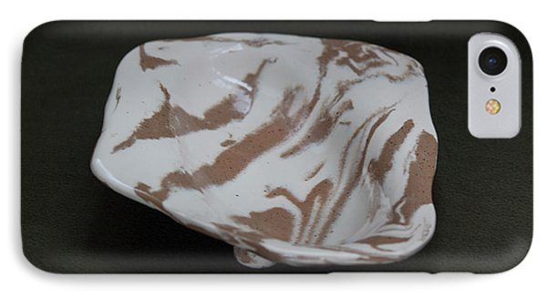 Organic Oval Marbled Ceramic Dish IPhone Case by Suzanne Gaff