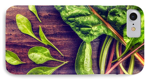 IPhone Case featuring the photograph Organic Rainbow Chard by TC Morgan