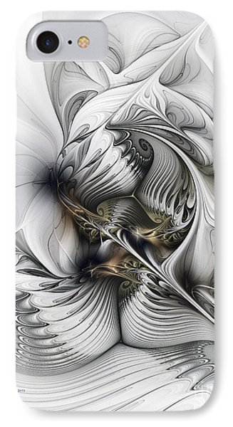 IPhone Case featuring the digital art Organic Spiral Tower Construction by Karin Kuhlmann