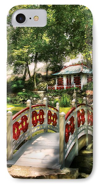 Orient - Bridge - The Bridge To The Temple  Phone Case by Mike Savad