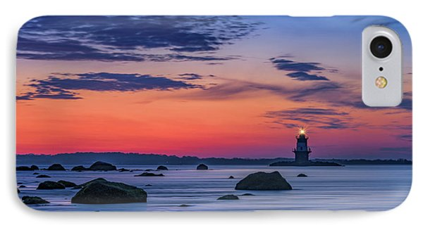 Orient Point Lighthouse At Dawn IPhone Case by Rick Berk