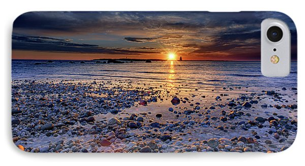 Orient Point Sunrise IPhone Case by Rick Berk
