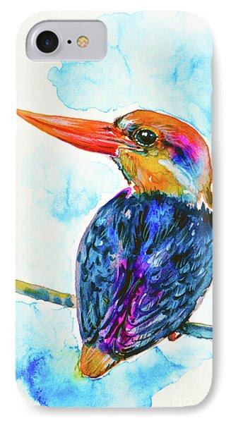 Oriental Dwarf Kingfisher IPhone 7 Case by Zaira Dzhaubaeva