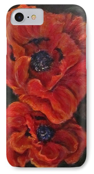 Oriental Poppys  IPhone Case by Barbara O'Toole