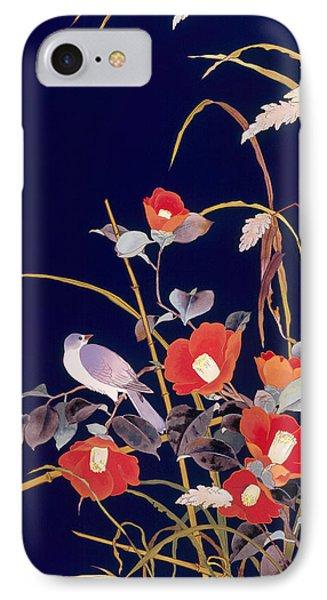 Oriental Wildflowers IPhone Case by Haruyo Morita
