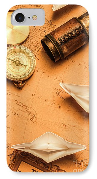 Origami Paper Boats On A Voyage Of Exploration IPhone Case