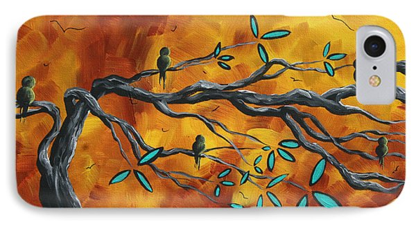 Original Bird Landscape Art Contemporary Painting After The Storm II By Madart Phone Case by Megan Duncanson