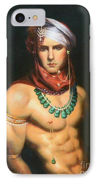 Original Classic Oil Painting Man Body Art-male Nude -068 IPhone Case by Hongtao     Huang