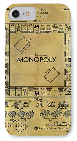 Original Monopoly Board Game Patent IPhone Case by Dan Sproul