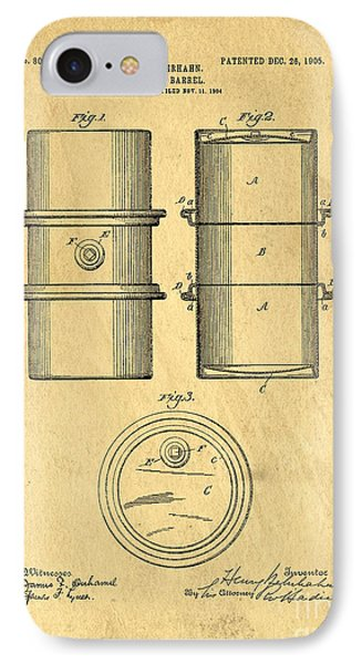 Original Patent For The First Metal Oil Drum IPhone Case
