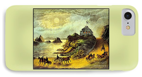 IPhone Case featuring the painting Original San Francisco Cliff House Circa 1865 by Peter Gumaer Ogden