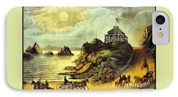 Original San Francisco Cliff House Circa 1865 IPhone Case by Peter Gumaer Ogden