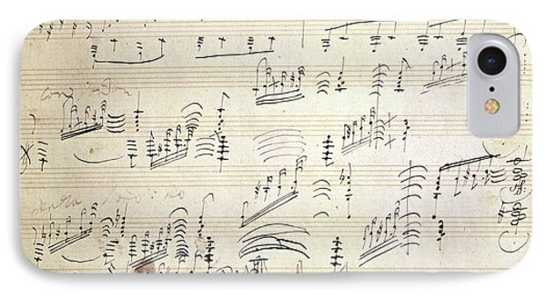 Original Score Of Beethoven's Moonlight Sonata IPhone Case