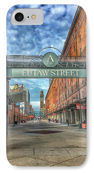Oriole Park At Camden Yards - Eutaw Street Gate IPhone Case by Marianna Mills