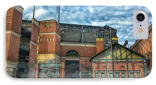 Oriole iPhone 7 Case - Oriole Park At Camden Yards Gate by Marianna Mills