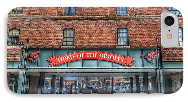 Oriole Park At Camden Yards - Sign IPhone Case by Marianna Mills