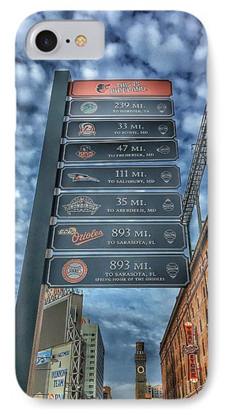 Oriole Park At Camden Yards - Signs IPhone Case by Marianna Mills