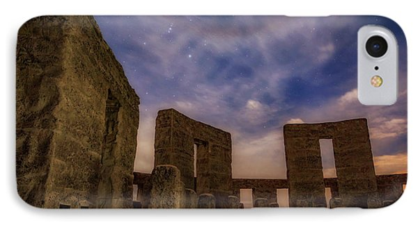 IPhone Case featuring the photograph Orion Over Stonehenge Memorial by Cat Connor