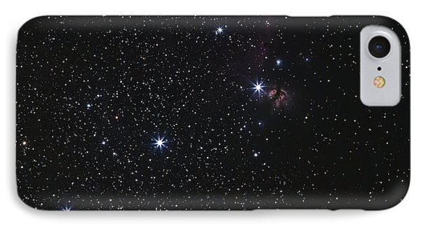 Orions Belt, Horsehead Nebula And Flame Phone Case by Luis Argerich