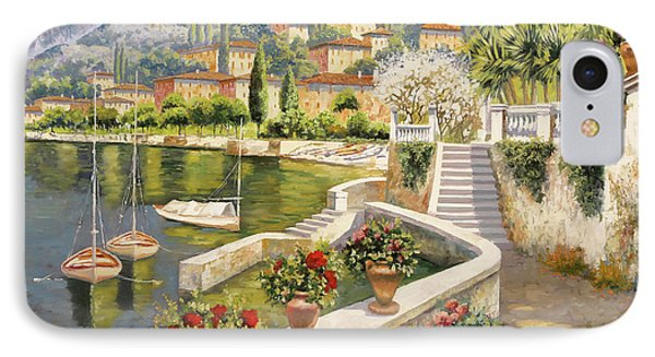 ormeggio a Bellagio IPhone Case by Guido Borelli