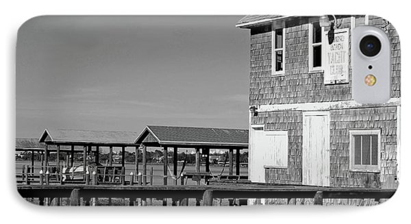 Ormond Yacht Club Black And White Phone Case by DigiArt Diaries by Vicky B Fuller