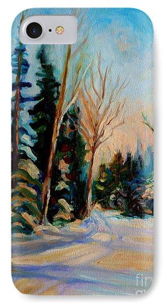 Ormstown Quebec Winter Road Phone Case by Carole Spandau