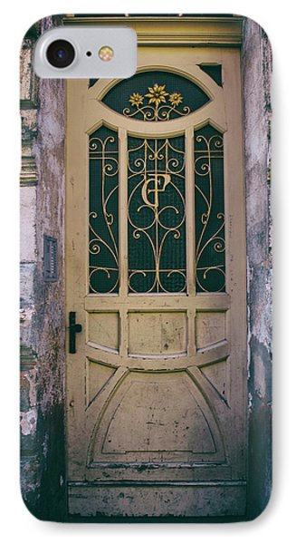 Ornamented Doors In Light Brown Color IPhone Case by Jaroslaw Blaminsky