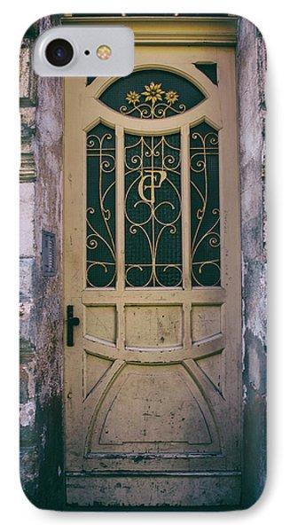 Ornamented Doors In Light Brown Color IPhone Case by Jaroslaw Blaminsky