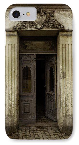 Ornamented Gate In Dark Brown Color IPhone Case by Jaroslaw Blaminsky