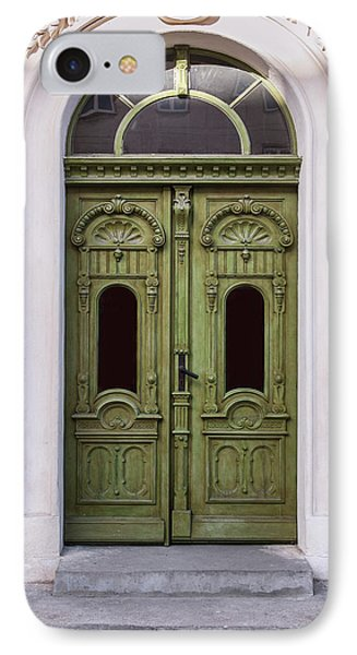 Ornamented Gates In Olive Colors IPhone Case by Jaroslaw Blaminsky