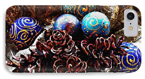 Ornaments 6 Phone Case by Sarah Loft