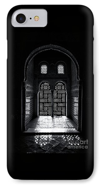 Ornate Alhambra Window IPhone Case by Jane Rix