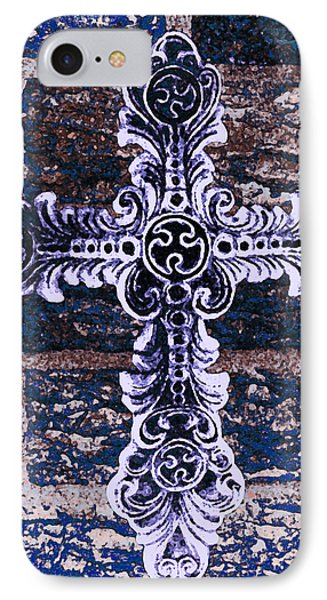 Ornate Cross 2 IPhone Case