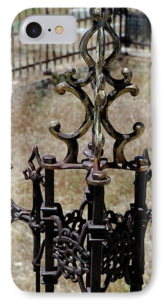 Ornate Iron Works Virginia City Nv Phone Case by LeeAnn McLaneGoetz McLaneGoetzStudioLLCcom