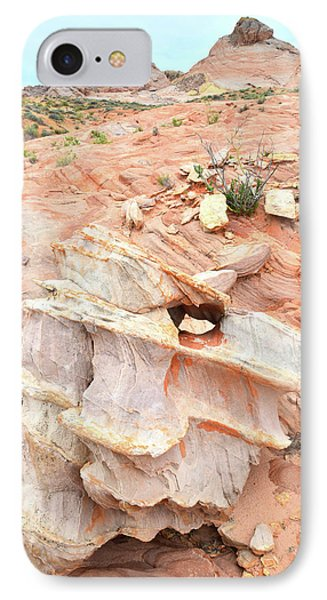IPhone Case featuring the photograph Ornate Rock In Wash 4 Of Valley Of Fire by Ray Mathis