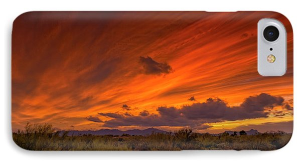 IPhone Case featuring the photograph Oro Valley Sunset H6 by Mark Myhaver