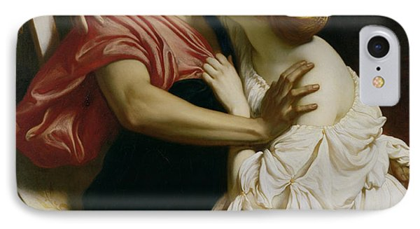 Orpheus And Euridyce IPhone Case by Frederic Leighton