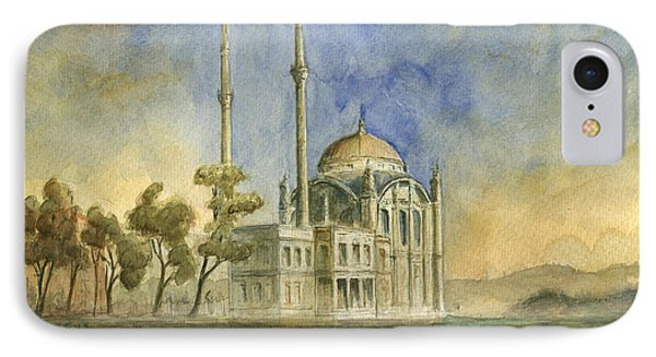 Turkey iPhone 7 Case - Ortakoy Mosque Istanbul by Juan Bosco