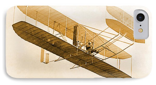 Orville Wright In Wright Flyer 1908 Phone Case by Science Source